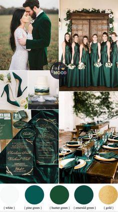 Emerald Wedding Colors, Winter Wedding Colors, Fall Wedding, Dream Wedding, Wedding Colours, Winter Weddings, Wedding White, Winter Wedding Ideas, December Wedding Colors