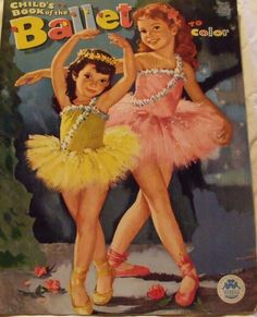 Vintage Child's Book of The Ballet to Color 1962 | eBay