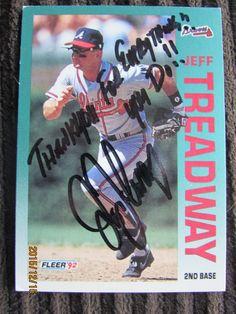 1992 Fleer #373 Jeff Treadway (TTM)