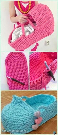 Baby Knitting Patterns Crochet Doll Carrier Free Pattern – Crochet Doll Toys Free P… Crochet Diy, Crochet Amigurumi, Crochet Gifts, Crochet For Kids, Crochet Baby Toys, Quick Crochet, Crochet Tops, Baby Knitting Patterns, Crochet Patterns