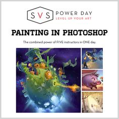 Painting in Photoshop Power day - HD video class | School of Visual Storytelling