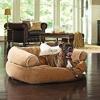PET BED HEAVEN! This website has so many reasonably priced dog beds! WITH MONOGRAMMING OPTIONS