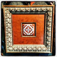 #ThrowbackThursday: Southwestern tile framed with a leather mat and museum glass. Framed in 2009! #art #framing #denver #colorado #tbt #customframing #pictureframing