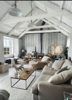 Love the white and the comfy couch