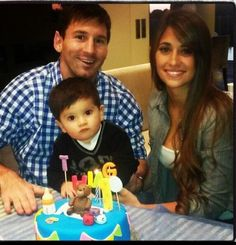 HAPPY BIRTHDAY THIAGO BABY... MESSI AND HIS WIFE= PERFECT BABY... Hes So Cute.