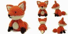 Sitting Fox - Free Amigurumi Pattern here: http://icrochetthings.blogspot.ca/2015/03/free-pattern-sitting-fox-amigurumi.html