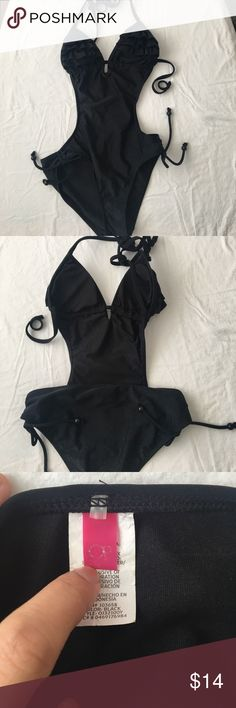 Op Swimsuit One piece swimsuit with single string back and halter tie. Op  Swim One Pieces