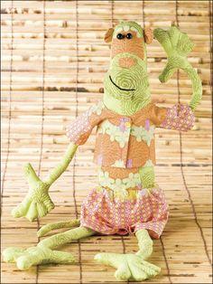 Monkey Business toy free sewing pattern
