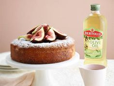 Amazing Olive Oil Wine Cake with Seasonal Fruit, time to get adventurous !