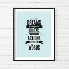 Printable Art Inspirational Typography Let di TheMotivatedType