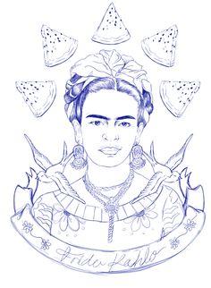 PDF - Frida Kahlo Portrait Pattern & Stitch Atlas | Embroidery ...