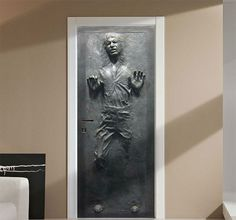Personalize your door in the ultimate form of geek decor with the Han Solo frozen in carbonite door decal. This iconic moment of Star Wars history is easily...