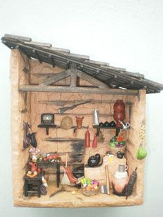 Christmas Themed Cake, Christmas Themes, Miniature Rooms, Miniature Fairy Gardens, Popsicle House, Green Life, Fairy Dolls, Miniture Things, Diorama