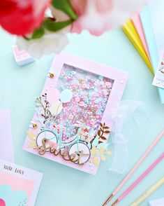 Mini Albums Scrap, Mini Scrapbook Albums, Scrapbook Cover, Slider Cards, Bday Cards, Art Drawings For Kids, Handmade Tags, Paper Crafts, Diy Crafts