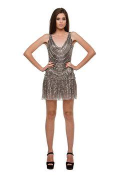 Gatsby - Vestido curto de tule todo bordado estilo anos 20. #glam #fashion #cool #ootd #cute #style #trends #aboutalook