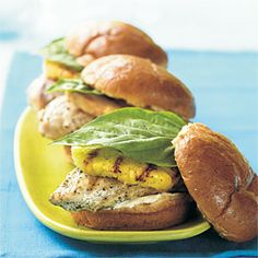 Grilled Chicken and Pineapple Sandwiches | CookingLight.com