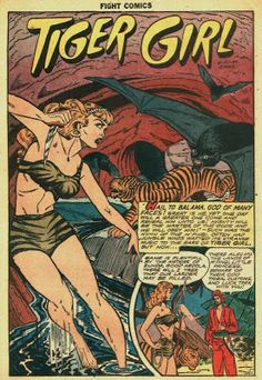"""The Comic Book Catacombs: Tiger Girl in """"The Jewels of Jeopardy"""" (Fiction House;1948)"""