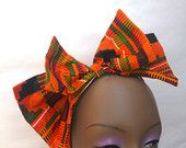 African Print Kente Fabric Bow Fascinator,african print fashion, african fascinator, fascinator,