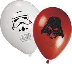 Ballon gonflable hélium dark vador rouge et noir stormtrooper noir et blanc star wars