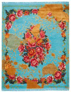 Jan Kath, From Russia wih Love, Sofianka Splashed Modern Carpet, Modern Rugs, Persian Carpet, Persian Rug, Jan Kath, Let's Make Art, Classical Elements, Magic Carpet, Crafts