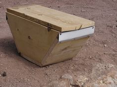 want to make a few of these over the winter to catch swarms.  need to adjust bars to fit my top bar hive.