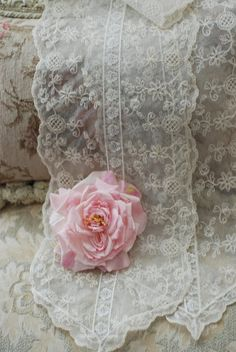 Vintage Lace with a Rose so Sweet