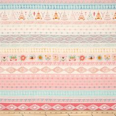 Designed by Lucie Crovatto for Studio E Fabrics, this wonderlust native american inspired cotton print is so beautiful and magical. This cotton print is perfect for quilting, apparel and home decor accents. Colors include pink, blue, white, tan and orange.