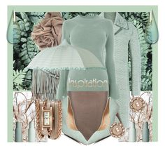 """""""It All Started With A Pretty Mint Green Umbrella...."""" by sharee64 ❤ liked on Polyvore featuring Rebecca Minkoff, Steffen Schraut, Warehouse, Dorothy Perkins, La Mer, Marchesa and Menu"""
