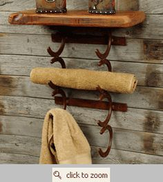 horseshoe towel rack :)