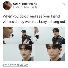 """838 Likes, 1 Comments - @g7diary on Instagram: """"lmao HAHAHA. i have nothing to post but yea. twt on pic. Follow @g7diary for more.  - #GOT7…"""""""