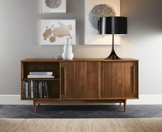 Grove Cabinets modern buffet and sideboard Mid Century Modern Living Room, Mid Century Modern Furniture, Living Room Modern, Living Room Designs, Living Room Furniture, Home Furniture, Furniture Design, Kitchen Furniture, Rustic Furniture