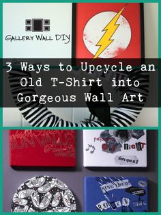 You've got a stash of old t-shirts you can't bear to part with, but actually have no idea what you're ever going to do with them. Why not turn it into gorgeous wall art? Here's how...