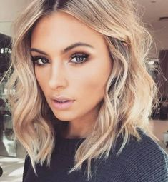 What Should I Do with My Hair Quiz 10113 Blonde Hair Color Ideas for Shoulder Length Hairstyles 2018 Medium Hair Styles, Curly Hair Styles, Hair Medium, Medium Blonde, Hair Cut Styles, Longbob Hair, Blonde Lob Hair, Blonde Waves, Blonde Curls