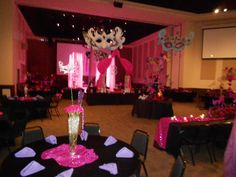 Pink masquerade theme decor