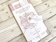 Passport Invitation, Travel Destination Wedding Invitation - SAMPLE by STNstationery on Etsy https://www.etsy.com/uk/listing/477751746/passport-invitation-travel-destination
