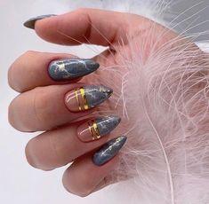Cute Acrylic Nails, Cute Nails, Pretty Nails, My Nails, Classy Nails, Stylish Nails, Thanksgiving Nail Art, Nagellack Design, Gel Nails At Home