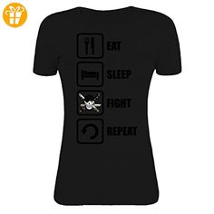 One Piece Inspired Eat Sleep Fight Repeat Womens T-Shirt XX-Large (*Partner-Link)