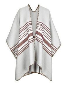 Pin for Later: 14 Blanket Scarves So Luxe You'll Want to Wear Them Over Everything Topshop Centre Striped Cape Topshop Centre Striped Cape (£35)