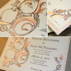 Silver & gold wedding invitation  # Silver Wedding ... Wedding ideas for brides, grooms, parents & planners ... https://itunes.apple.com/us/app/the-gold-wedding-planner/id498112599?ls=1=8 … plus how to organise an entire wedding ♥ The Gold Wedding Planner iPhone App ♥