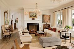 """With the help of architect Don Nulty and interior designer David Phoenix, actor Rob Lowe and his wife, Sheryl, built their dream house on the California coast, nestled on four acres near Santa Barbara. """"I've always been drawn to a historic, East Coast American aesthetic,"""" says Lowe, a Virginia native, who looked to George Washington's Mount Vernon for inspiration. Adds Phoenix, """"Sheryl loves beautiful things and is definitely a collector. She has a very clean vision."""" Pictured: An English…"""