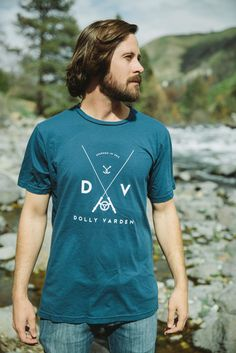 Men's DVOC Logo Tee - Simple and classic, it doesn't get much better than that! Made from the softest cotton available, our tees are sure to spend more time on your back than anything in your closet! Dolly Varden, Logo, Simple, Classic, Mens Tops, Cotton, Closet, Derby, Logos