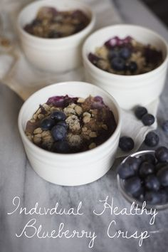 HEALTHY GRAIN BLUEBERRY CRISP | Meyers Styles.com