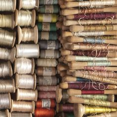 VIntage thread and lots of wonderful, wooden spools!
