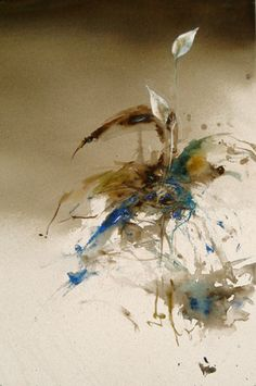 "Lars Eje Larsson. ""Fredskalla"" 56 x 35 cm, akvarell"