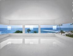 ROBERT IRWIN 1º 2 º 3 º 4º, 1997  Apertures cut into existing windows 115 × 320 × 221 in 292.1 × 812.8 × 561.3 cm Irwin, Robert (b. 1928) © ARS, NY Museum of Contemporary Art San Diego