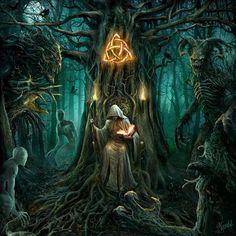 Kunst Zeichnungen - The druid king by DusanMarkovic. on - Best Art Pins Dark Fantasy Art, Fantasy Artwork, Fantasy Kunst, Fantasy Forest, Fantasy Rpg, Fantasy World, Dark Art, Illustration Fantasy, Fantasy Setting