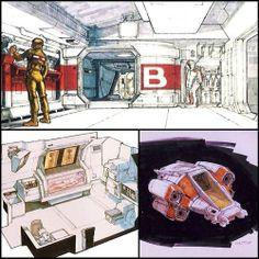 """boomerstarkiller67: """"Alien"""" concept art by Ron Cobb"""