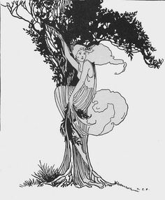 Daphne shook her branches, and a little shower of leaves fell around Apollo
