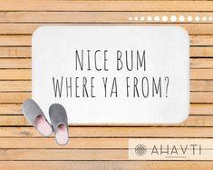 Funny Bath Mat | AHAVTI Lifestyle Funny Bathroom Decor, Modern Bathroom Decor, Modern Bathroom Accessories, Bath Design, Handmade Shop, Decoration, Spice Things Up, Bath Mat, Lifestyle