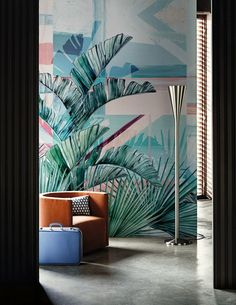 Greenery on walls!  Plants Wallpapers, Murals  Creativity Flow!